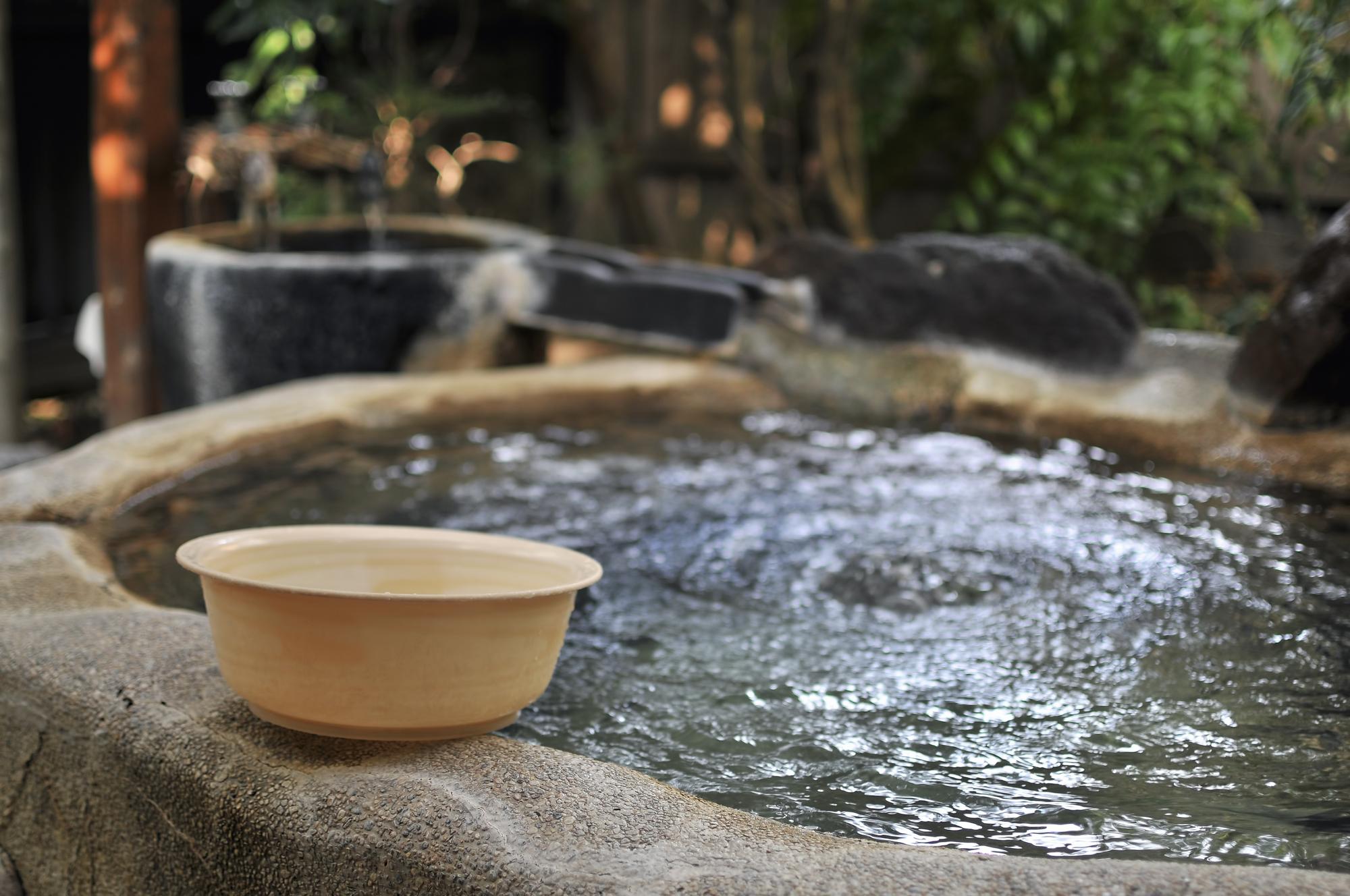 温泉 お風呂 桶 露天風呂