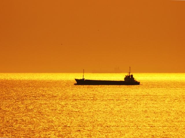 夕暮れ 海