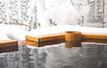 雪 温泉 露天風呂