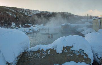 雪 雪見温泉