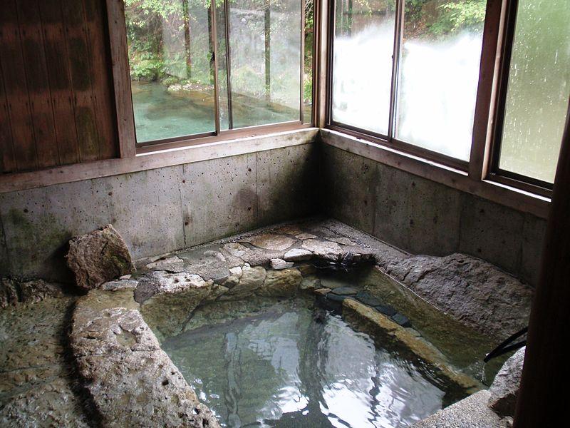 湯西川温泉混浴 共同風呂