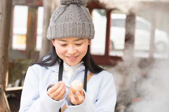 食べ歩き 温泉卵