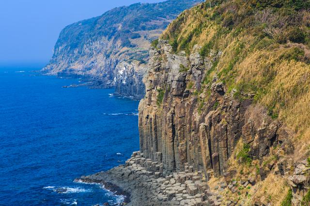 長崎 平戸 月島 柱状節理 塩俵の断崖