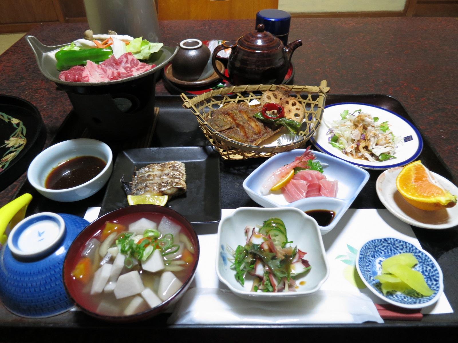 喜久屋旅館の夕食