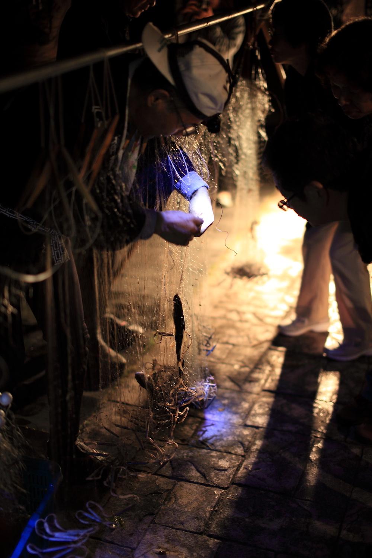 馬瀬川の火ぶり漁